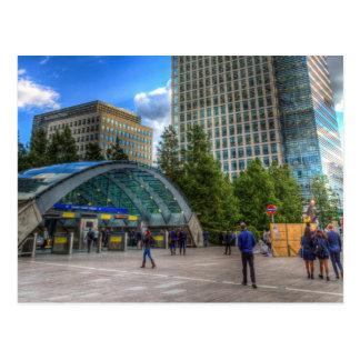 Cartão Postal Estação amarela Londres do cais