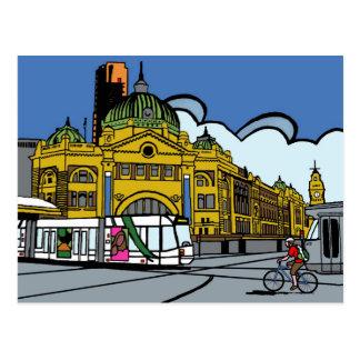 Cartão Postal Estação da rua do Flinders