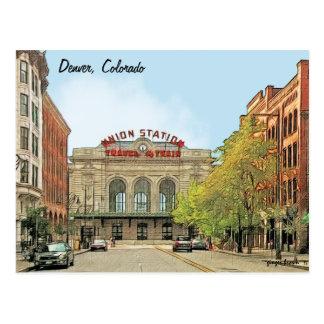 Cartão Postal Estação da união, Denver, CO, viagem pelo trem