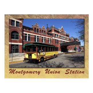 Cartão Postal Estação da união, Montgomery, Alabama