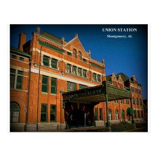 Cartão Postal ESTAÇÃO da UNIÃO - Montgomery, Alabama