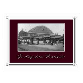 Cartão Postal Estação de caminhos-de-ferro de Manchester do