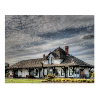 Cartão Postal Estação de caminhos-de-ferro de Saskatchewan do
