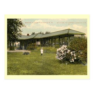 Cartão Postal Estação de caminhos-de-ferro, Montclair superior,