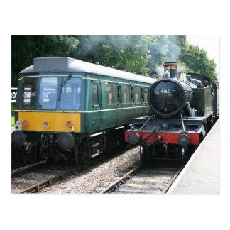 Cartão Postal Estação de Crowcombe Heathfield, estrada de ferro