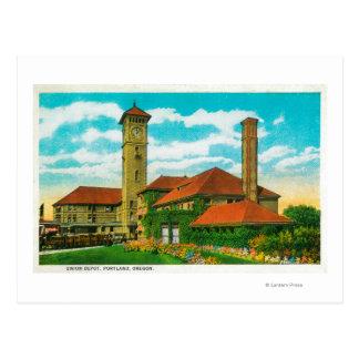 Cartão Postal Estação de estrada de ferro do depósito da união