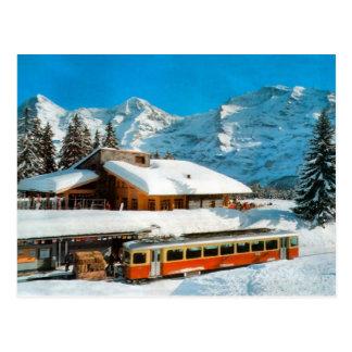 Cartão Postal Estação de Kleiner Scheidegg, Jungfrau