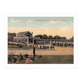 Cartão Postal Estação de Lackawanna RR, vintage de Montclair NJ