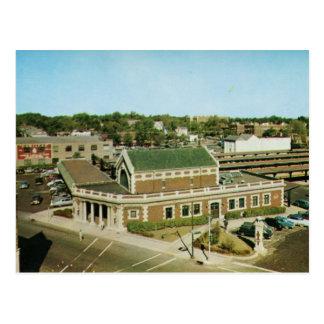 Cartão Postal Estação de Lackawanna, vintage de Montclair NJ