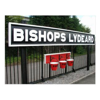 Cartão Postal Estação de Lydeard dos Bishops, estrada de ferro