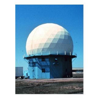 Cartão Postal Estação de radar meteorológico de Doppler -