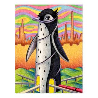 Cartão Postal Estação do pinguim