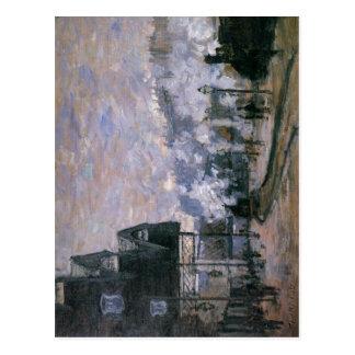Cartão Postal Estação do Santo-Lazare de Claude Monet, o