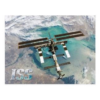 Cartão Postal Estação espacial internacional (ISS) e terra