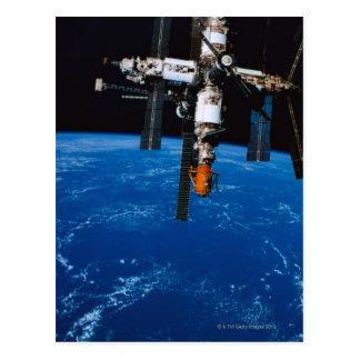 Cartão Postal Estação espacial na órbita