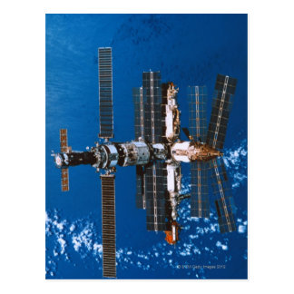 Cartão Postal Estação espacial que orbita no espaço