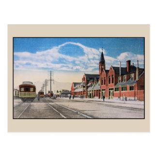 Cartão Postal Estação Ogden Utá da união da estrada de ferro do