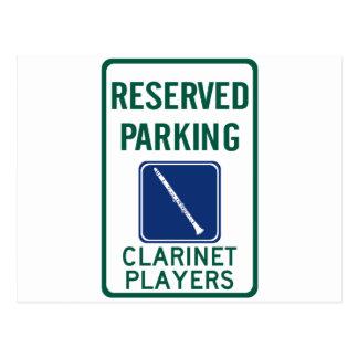 Cartão Postal Estacionamento dos jogadores do clarinete