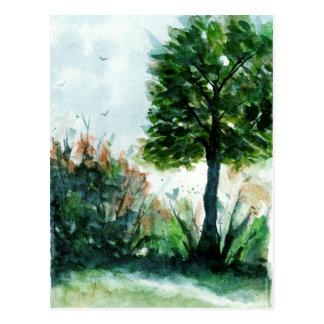 Cartão Postal Estações da natureza da árvore da arte da paisagem