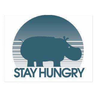 Cartão Postal Estada com fome