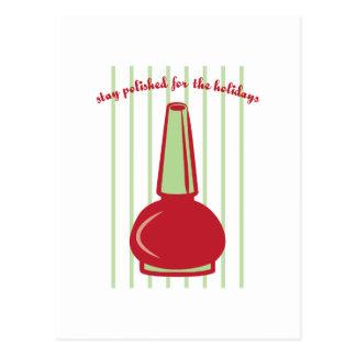 Cartão Postal Estada lustrada para os feriados
