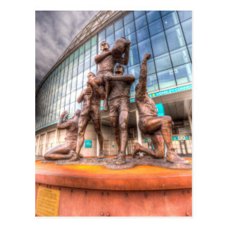 Cartão Postal Estádio de Wembley da estátua das legendas da liga