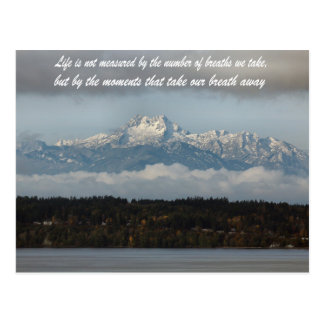 Cartão Postal estado de Washington das montanhas olímpicas