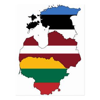 Cartão Postal Estados Bálticos
