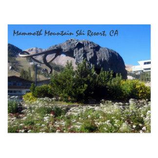Cartão Postal Estância de esqui de Mammoth Mountain, CA