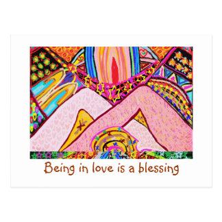 Cartão Postal Estar no amor é uma bênção