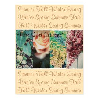 Cartão Postal Estas estações do silêncio quatro estações