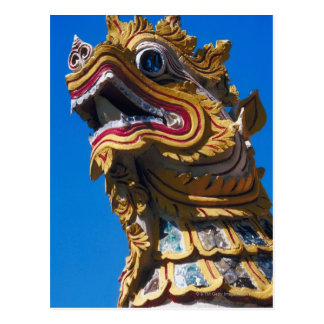 Cartão Postal Estátua colorido do dragão em Di de Wat Duang