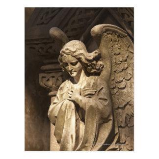 Cartão Postal Estátua com mãos cruzadas, Buenos Aires do anjo