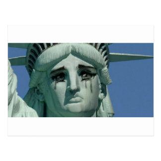 Cartão Postal Estátua da liberdade de grito