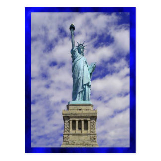 Cartão Postal Estátua da liberdade, Ellis Island, New York