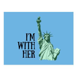 Cartão Postal Estátua da liberdade: Eu sou com ela