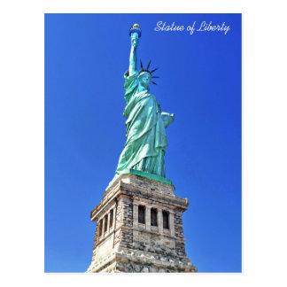 Cartão Postal Estátua da liberdade na ilha da liberdade em New
