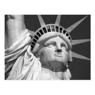 Cartão Postal Estátua da liberdade preta & branca