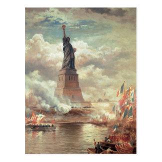 Cartão Postal Estátua da liberdade que ilumina o mundo