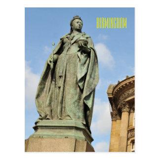 Cartão Postal Estátua da rainha Victoria em Birmingham,