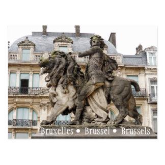 Cartão Postal Estátua de Bruxelas