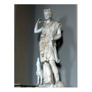 Cartão Postal Estátua de Diana (Artemis) no vaticano em Roma