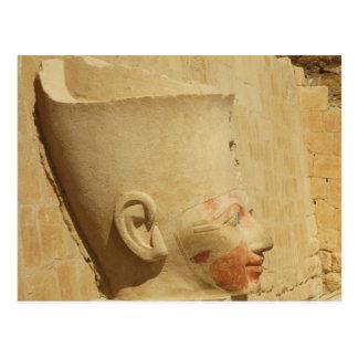 Cartão Postal estátua de Hatshepsut - faraó fêmea de Egipto