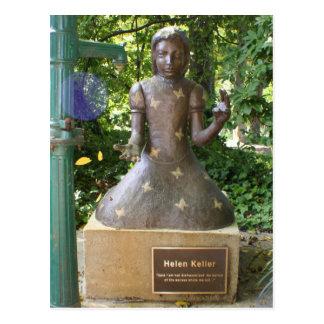 Cartão Postal Estátua de Helen Keller