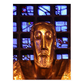 Cartão Postal Estátua de Jesus, igreja do memorial de Kaiser