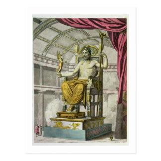 Cartão Postal Estátua de Jupiter em um templo, 'do dei R de