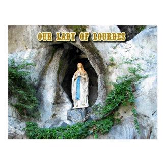 Cartão Postal Estátua de nossa senhora de Lourdes, Lourdes,