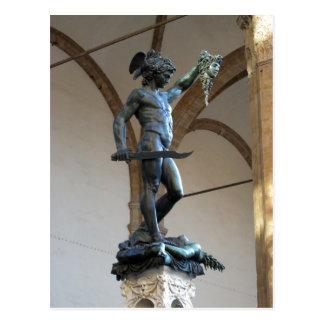 Cartão Postal Estátua de Perseus, Signor da descrição do della