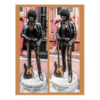 Cartão Postal Estátua de Phil Lynott, Dublin, Ireland