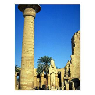 Cartão Postal Estátua de Pinodjem mim, templo de Karnak, Egipto